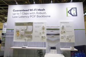 KDPOF presents guaranteed Wi-Fi Mesh up to 1 Gigabit/s with robust, low latency POF backbone