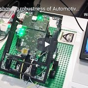 Demo showing robustness of Automotive Gigabit Ethernet over POF