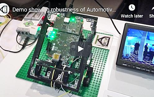 Demo showing robustness of Automotive Gigabit Ethernet over POF
