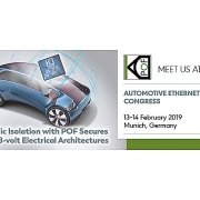 KDPOF displays optical connectivity providing galvanic isolation for Battery Management Systems and Smart Antenna Modules at Automotive Ethernet Congress