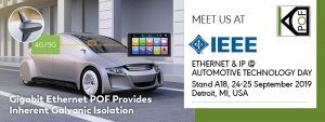 KDPOF Presents Gigabit Ethernet POF at IEEE-SA Ethernet & IP @ Automotive Technology Day