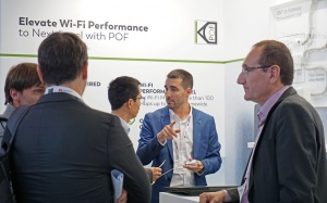 KDPOF presented guaranteed Wi-Fi Mesh up to 1 Gbps at Broadband World Forum