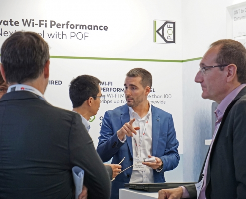 Broadband World Forum: KDPOF Presented Guaranteed Wi-Fi Mesh up to 1 Gbps